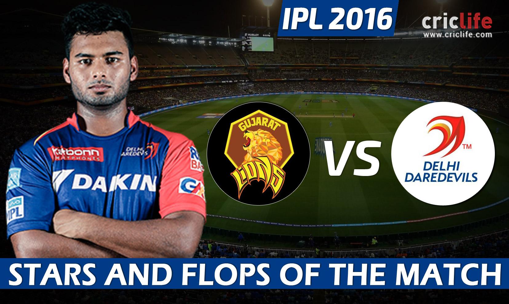 IPL 2016: Delhi Daredevils beat Gujarat Lions by 8 wickets at Rajkot