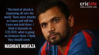 Mashrafe Mortaza urges England players to tour Bangladesh
