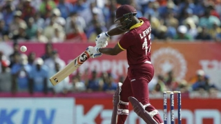 Watch Evin Lewis smash 5-sixes in an over from Stuart Binny
