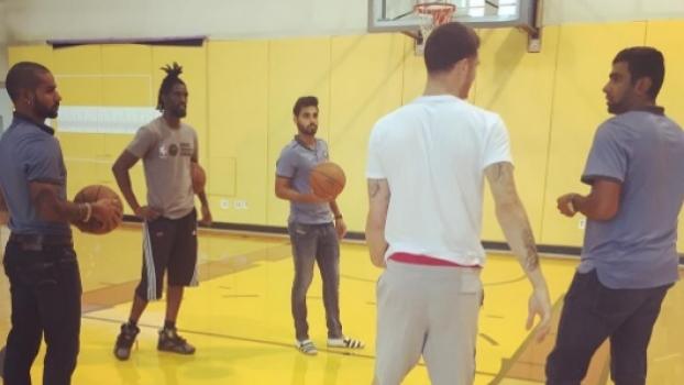 In USA, Dhawan, Ashwin, Bhuvneshwar meet NBA team Miami Heat's players